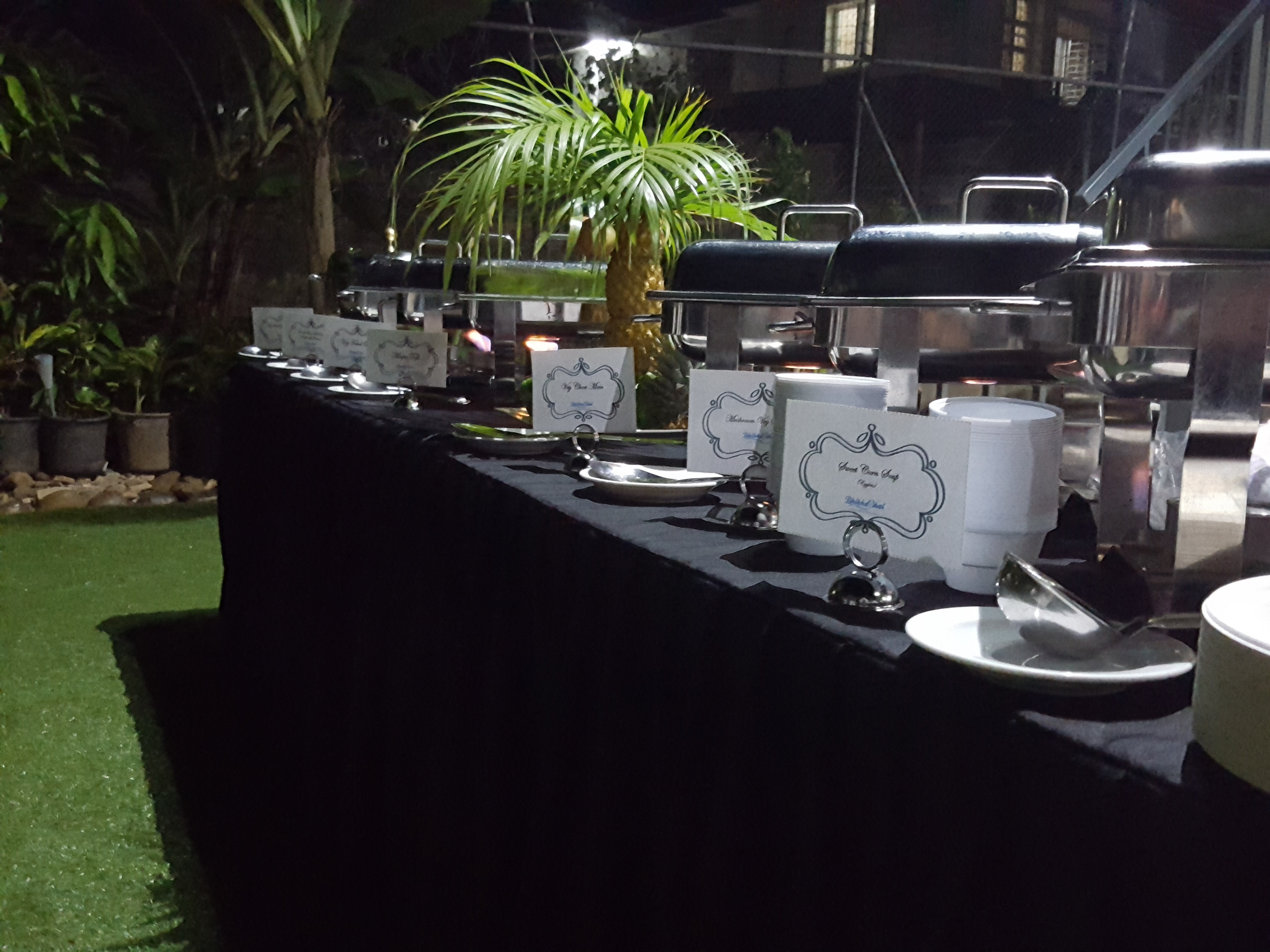 Buffet Setup to suit the event